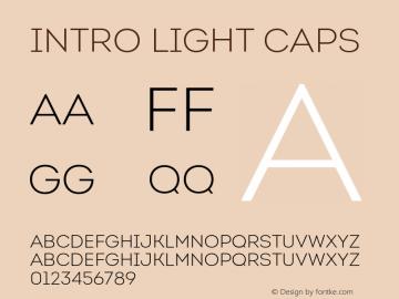 Intro Light Caps Version 1.000;PS 001.001;hotconv 1.0.56 Font Sample