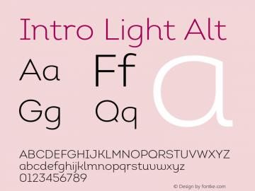 Intro Light Alt Version 1.000;PS 001.001;hotconv 1.0.56 Font Sample