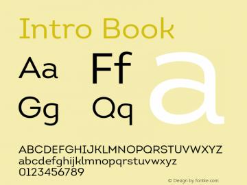 Intro Book Version 1.000;PS 001.001;hotconv 1.0.56 Font Sample