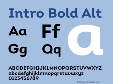 Intro Bold Alt Version 1.000;PS 001.001;hotconv 1.0.56 Font Sample