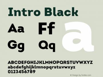 Intro Black Version 1.000;PS 001.001;hotconv 1.0.56 Font Sample