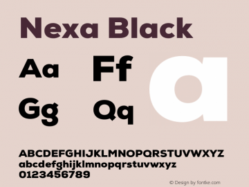 Nexa Black Version 001.001 Font Sample