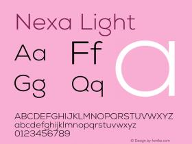 Nexa Light Version 001.001 Font Sample