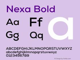 Nexa Bold Version 001.001 Font Sample