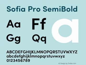 Sofia Pro SemiBold Version 2.000 Font Sample