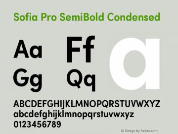 Sofia Pro SemiBold Condensed Version 2.000 Font Sample
