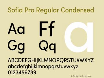 Sofia Pro Regular Condensed Version 2.000 Font Sample