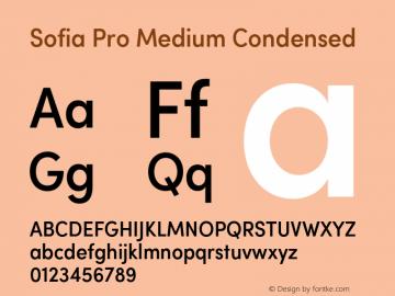 Sofia Pro Medium Condensed Version 2.000 Font Sample