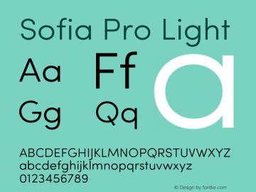 Sofia Pro Light Version 2.000 Font Sample