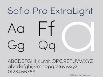 Sofia Pro ExtraLight Version 2.000 Font Sample
