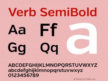 Verb SemiBold Version 2.000 Font Sample