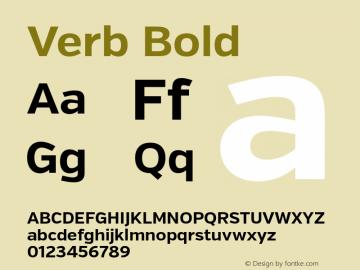 Verb Bold Version 2.000 Font Sample