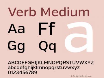 Verb Medium Version 2.000 Font Sample