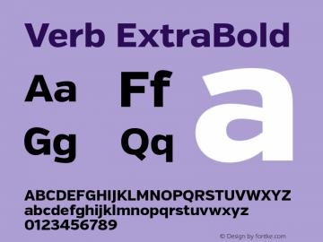 Verb ExtraBold Version 2.000 Font Sample