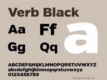 Verb Black Version 2.000 Font Sample