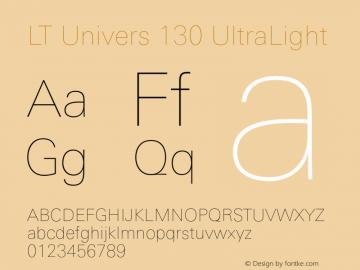 LT Univers 130 UltraLight Version 1.00图片样张