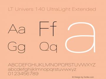 LT Univers 140 UltraLight Extended Version 1.00图片样张