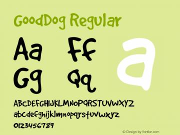 GoodDog Regular Version 1.000 Font Sample