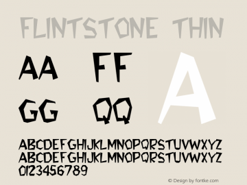 Flintstone Thin Version Converted from w:	tf Font Sample