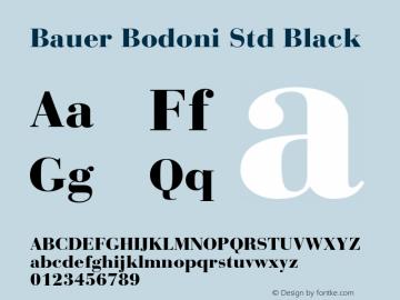 Bauer Bodoni Std Black Version 2.030;PS 002.000;hotconv 1.0.51;makeotf.lib2.0.18671图片样张