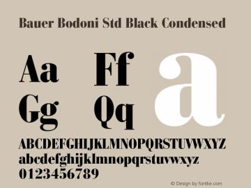 Bauer Bodoni Std Black Condensed Version 2.030;PS 002.000;hotconv 1.0.51;makeotf.lib2.0.18671图片样张