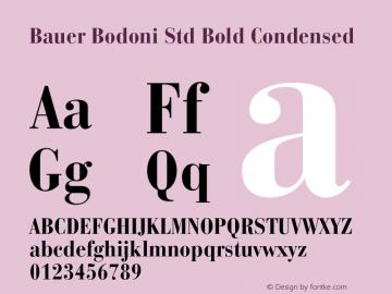 Bauer Bodoni Std Bold Condensed Version 2.030;PS 002.000;hotconv 1.0.51;makeotf.lib2.0.18671图片样张