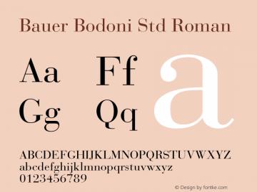Bauer Bodoni Std Roman Version 2.030;PS 002.000;hotconv 1.0.51;makeotf.lib2.0.18671图片样张