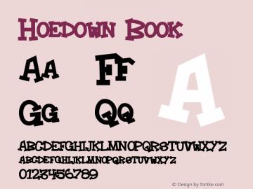 Hoedown Book Version Macromedia Fontograp Font Sample