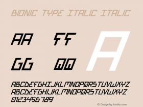 Bionic Type Italic Italic Version 1图片样张