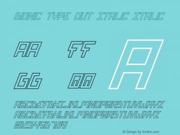 Bionic Type Out Italic Italic Version 1图片样张