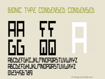 Bionic Type Condensed Condensed Version 1图片样张