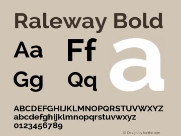 Raleway Bold Version 2.001; ttfautohint ( Font Sample