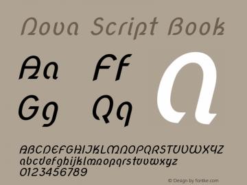 Nova Script Book Version 2.000 Font Sample