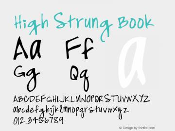 High Strung Book Version Macromedia Fontograp Font Sample