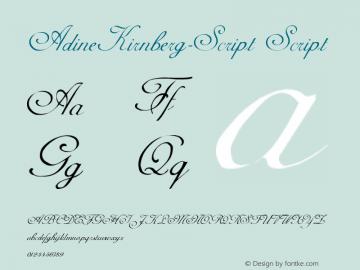 AdineKirnberg-Script Script Version Converted from C:TEM Font Sample