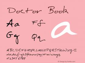 Doctor Book Version Macromedia Fontograp Font Sample