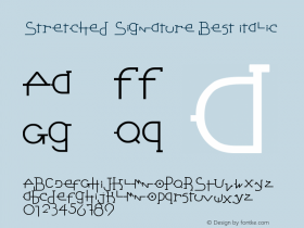 Stretched Signature Best Italic Version 2.90 December 5, 200图片样张