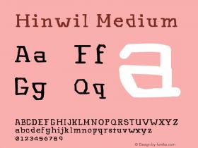 Hinwil Medium Version 1.000图片样张