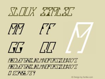 Sloux Italic Version 1.000 2012 initial r图片样张