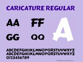 Caricature Regular Altsys Fontographer 3.5  2/8/93 Font Sample