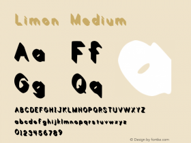 Limon Medium Version 1.00 February 21, 20 Font Sample