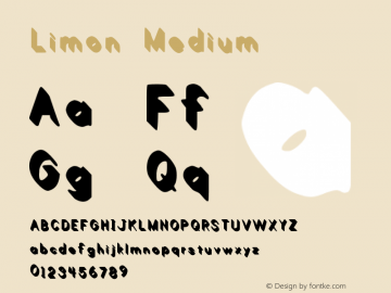 Limon Medium Version 1.00 February 21, 20 Font Sample