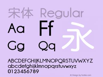 宋体 Regular Version 5.03 Font Sample