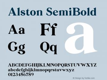 Alston Font Family|Alston-Uncategorized Typeface-Fontke com
