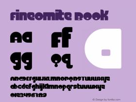 FineOMite Book Version Macromedia Fontograp Font Sample