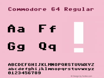 Commodore 64 Regular 6.2.1图片样张