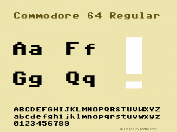 Commodore 64 Regular 6.3图片样张
