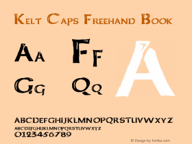 Kelt Caps Freehand Book Version Basic 1.0图片样张