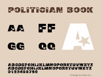 Politician Book Version Macromedia Fontograp图片样张