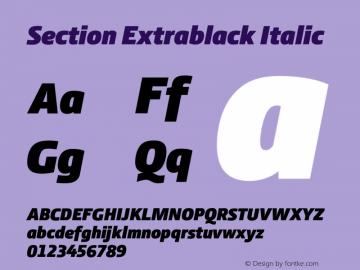 Section Extrablack Italic 2.000图片样张